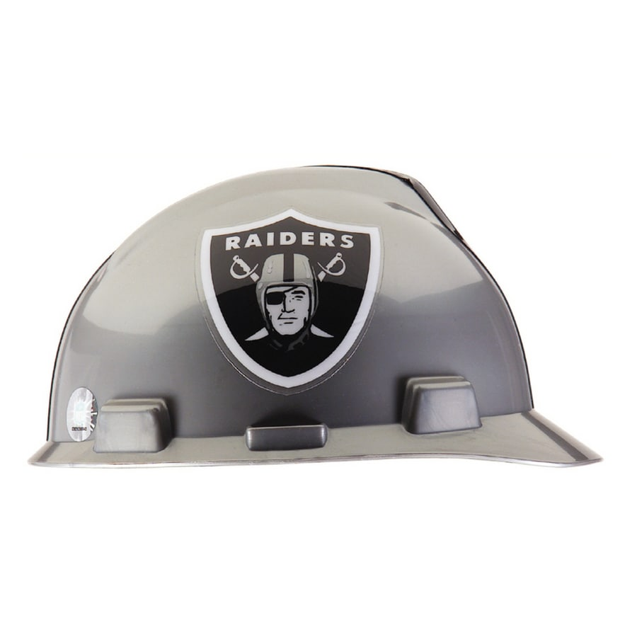 MSA Safety Works Standard Size Oakland Raiders NFL Hard Hat