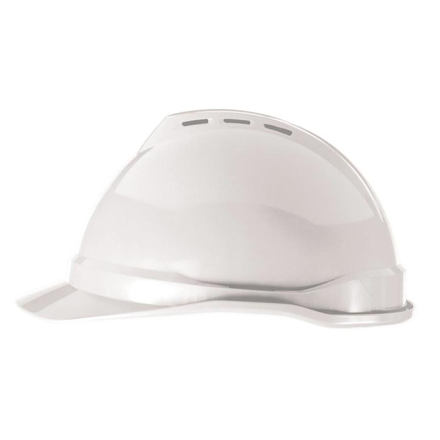 MSA Safety Works Quick Adjusting Ratchet White Hard Hat