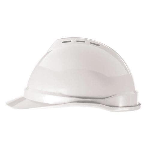 MSA Safety Works Quick Adjusting Ratchet White Hard Hat at