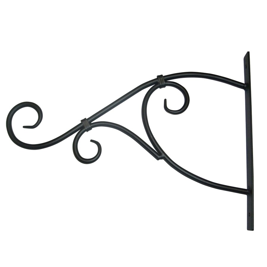Patio Life 13.75-in Black Steel Plant Hook
