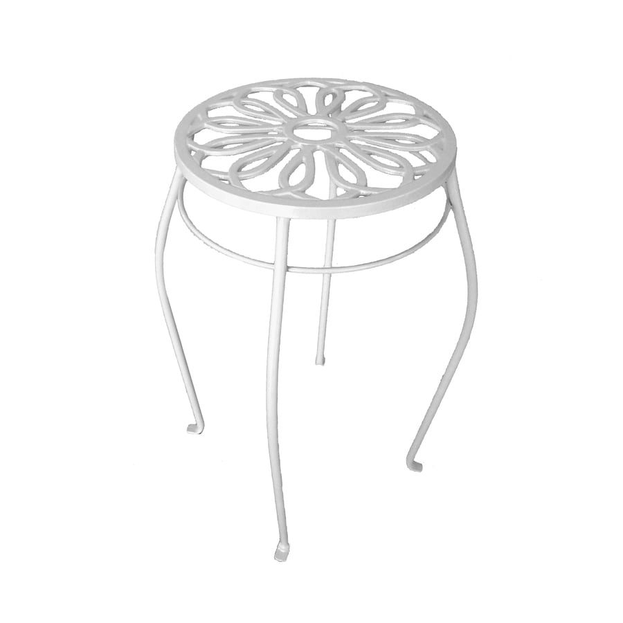 Garden Treasures 21-in Cream Round Steel Plant Stand