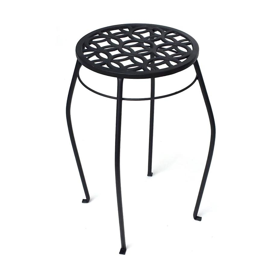 Shop Patio Life 21 In Black Indoor Outdoor Round Steel