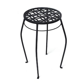 Patio Life 21-in Black Indoor/Outdoor Round Steel Plant Stand