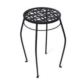 Patio Life 21-in Black Indoor/Outdoor Round Steel Plant Stand