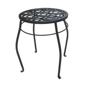 Patio Life 15 In Black Indoor Outdoor Round Steel Plant Stand
