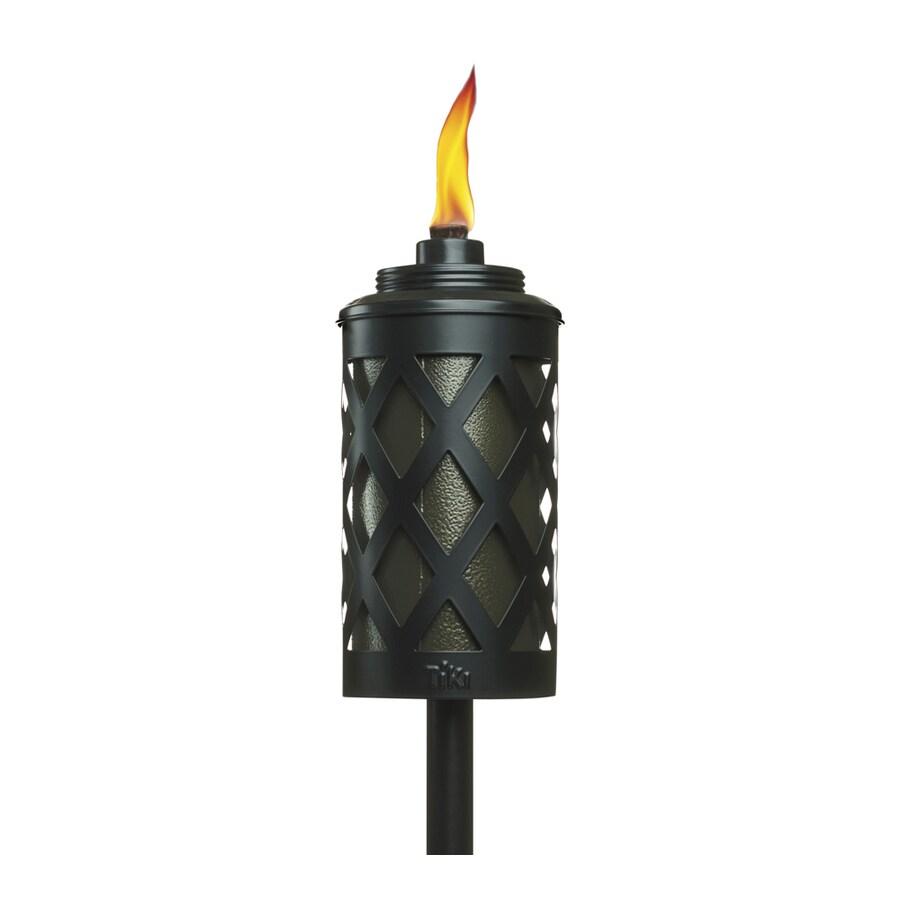 Garden Treasures 6-ft Black Stainless Steel Garden Torches