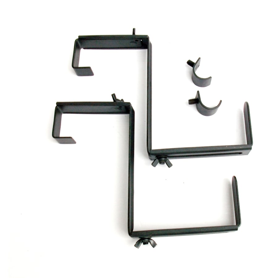 Patio Life 11.2-in Black Steel Trough Planter Bracket Kit - Shop Plant Hooks At Lowes.com