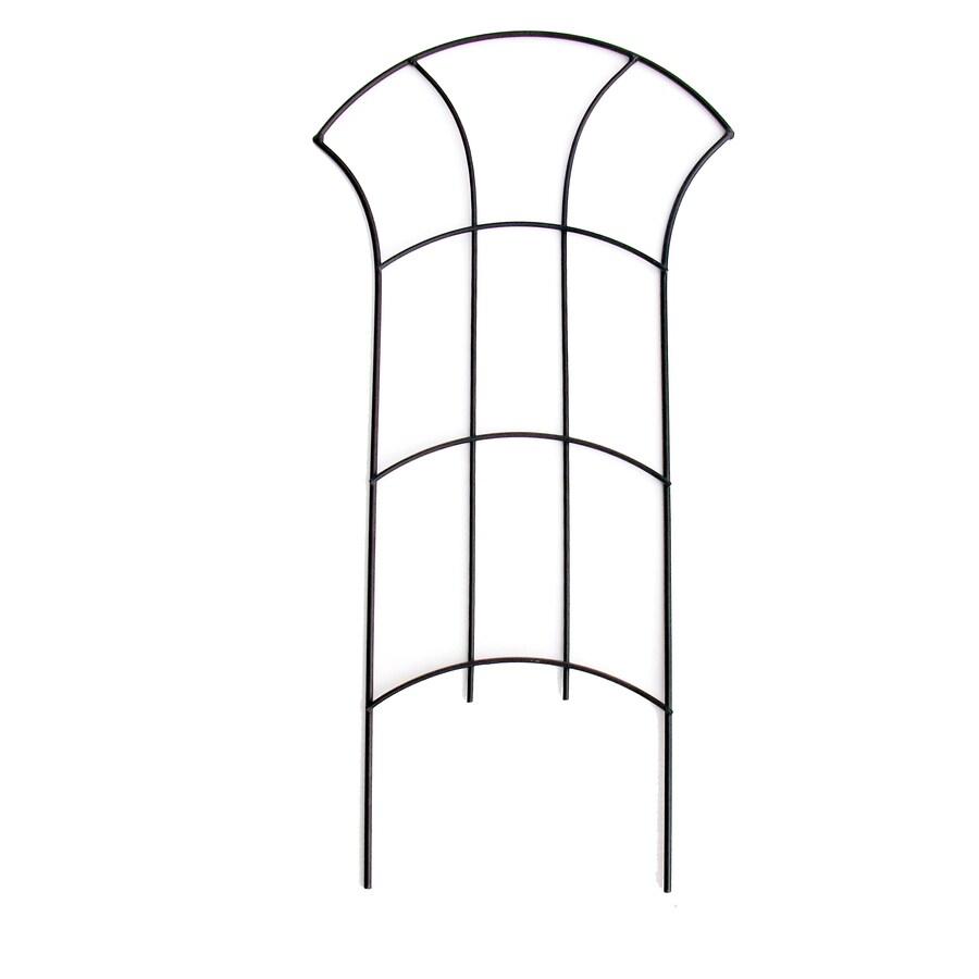 Patio Life 12-in W x 24-in H Black Simple Garden Trellis
