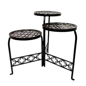 Patio Life 21-in Bronze Indoor/Outdoor Round Steel Plant Stand
