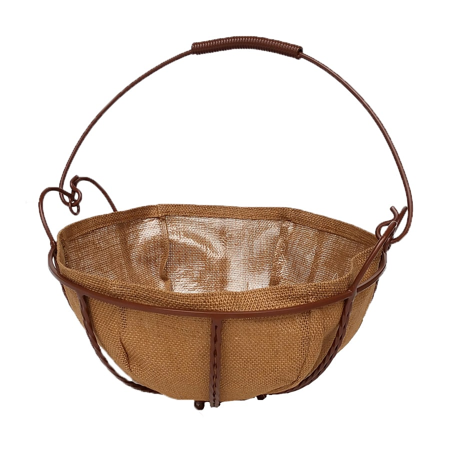 Patio Life 14-in x 9-in Brown Metal Hanging Classic Planter