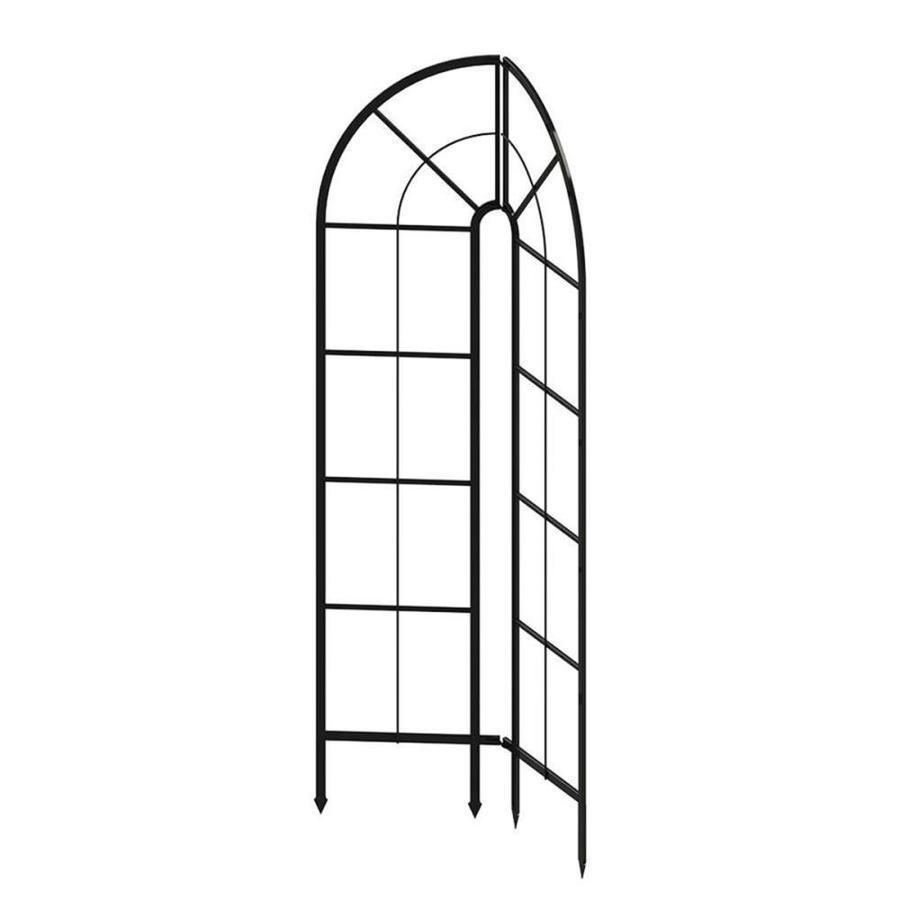 Patio Life 1.75-in W x 72.5-in H Black Garden Trellis