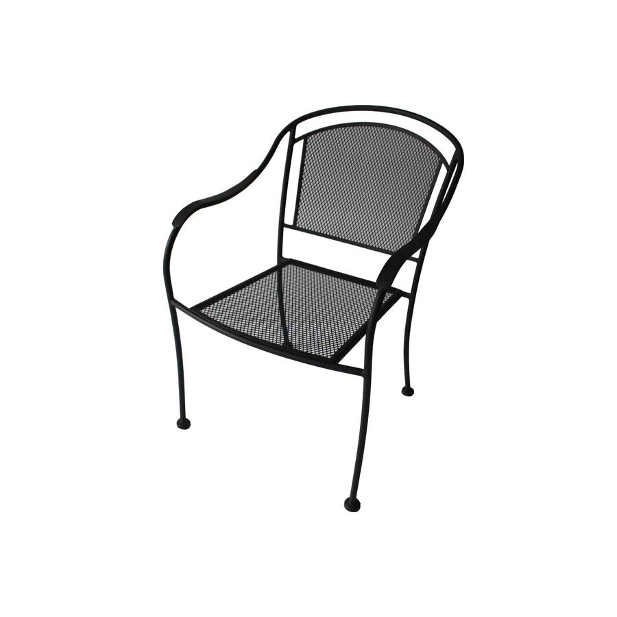 Garden Treasures Davenport Stackable Steel Dining Chair With Mesh Seat