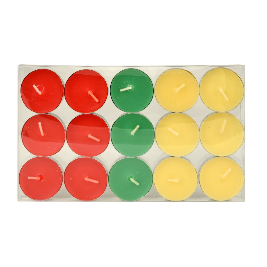 Tuscany 15-Pack 15-oz 1-Wick Christmas Tea Light Candles