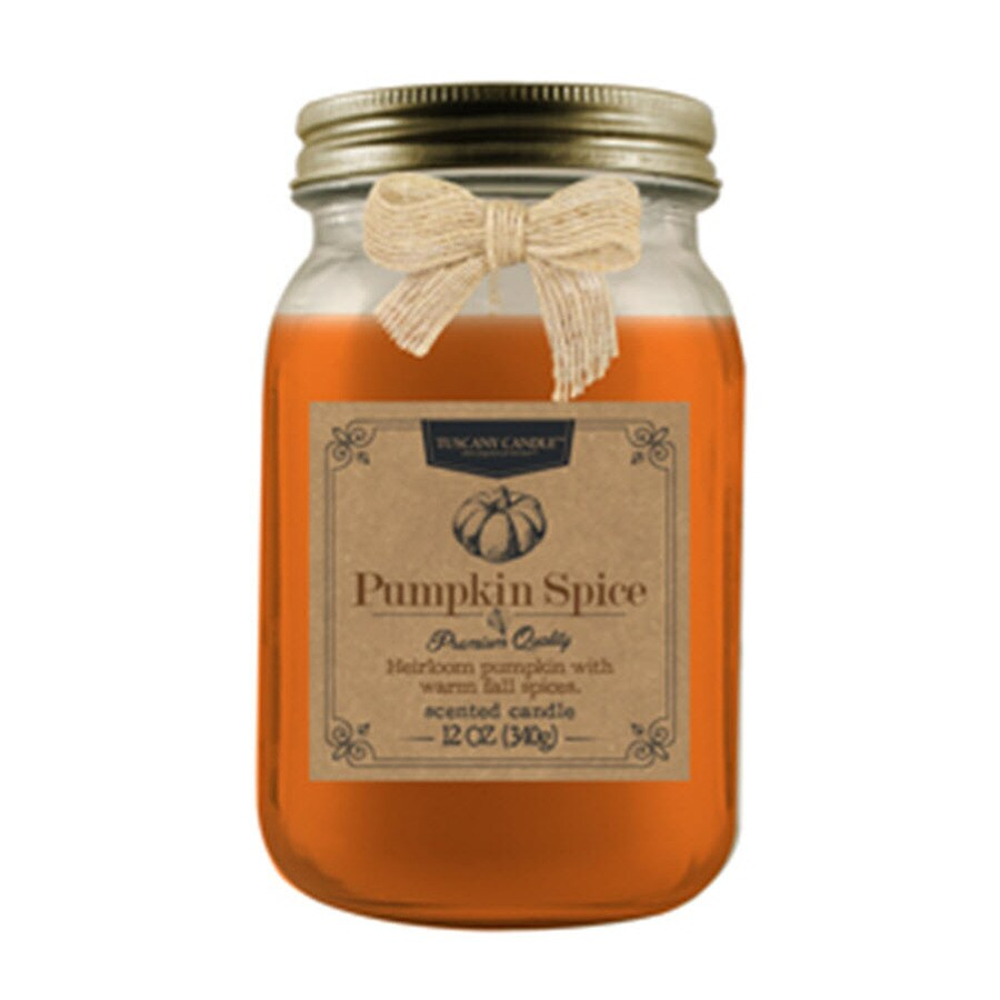 Tuscany 12-oz Pumpkin/Vanilla/Cinn Thanksgiving Jar Candle