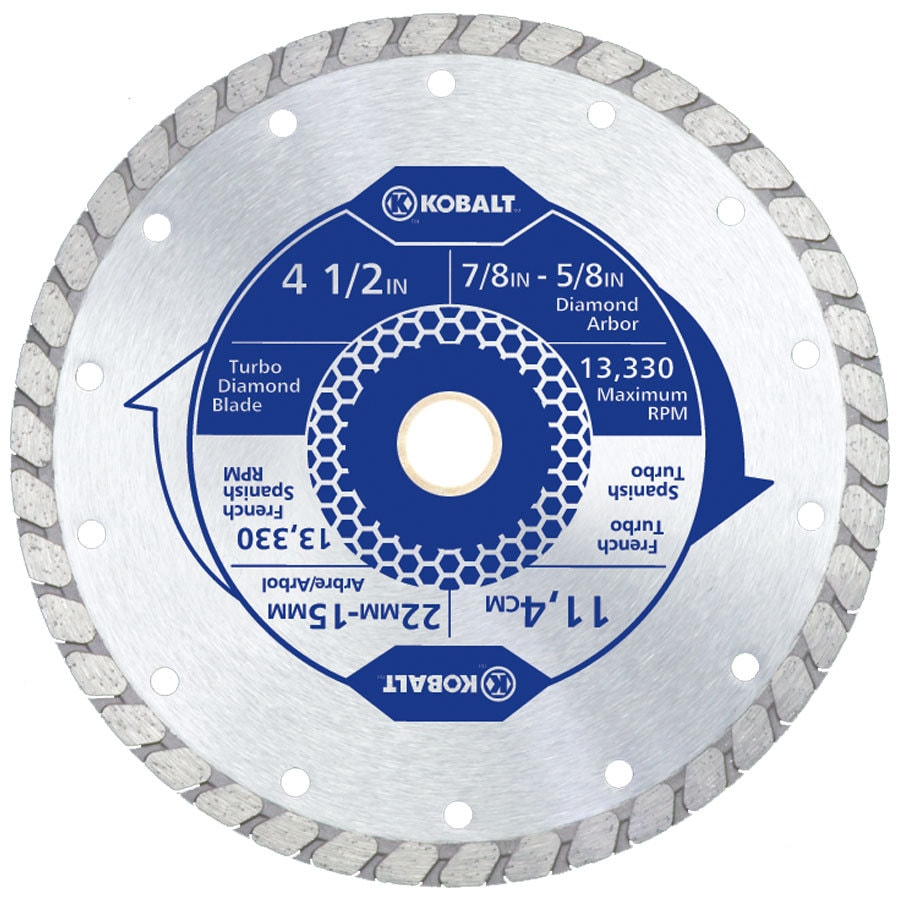 Kobalt 4-1/2-in 1-Tooth Wet Or Dry Cut Continuous Diamond Circular Saw Blade