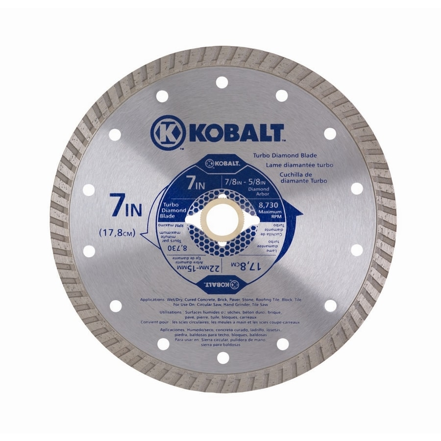 Kobalt 7-in 1-Tooth Wet Or Dry Cut Continuous Diamond Circular Saw Blade