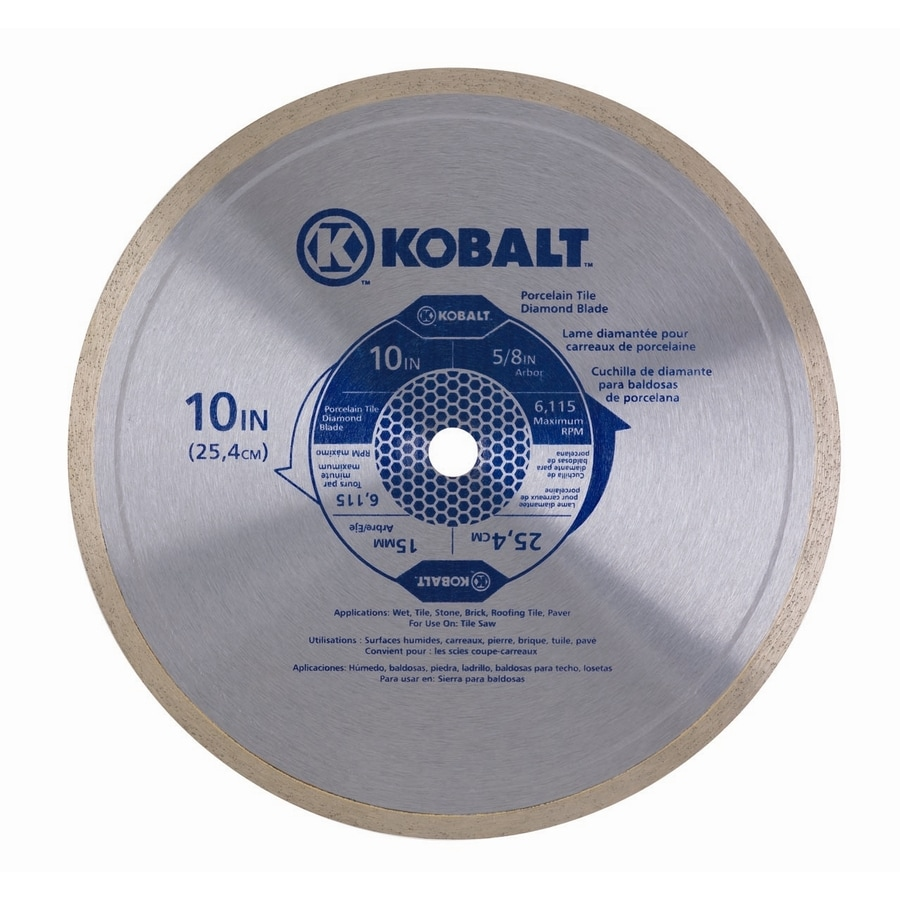Kobalt 10-in 1-Tooth Wet Continuous Diamond-Tipped Steel Circular Saw Blade