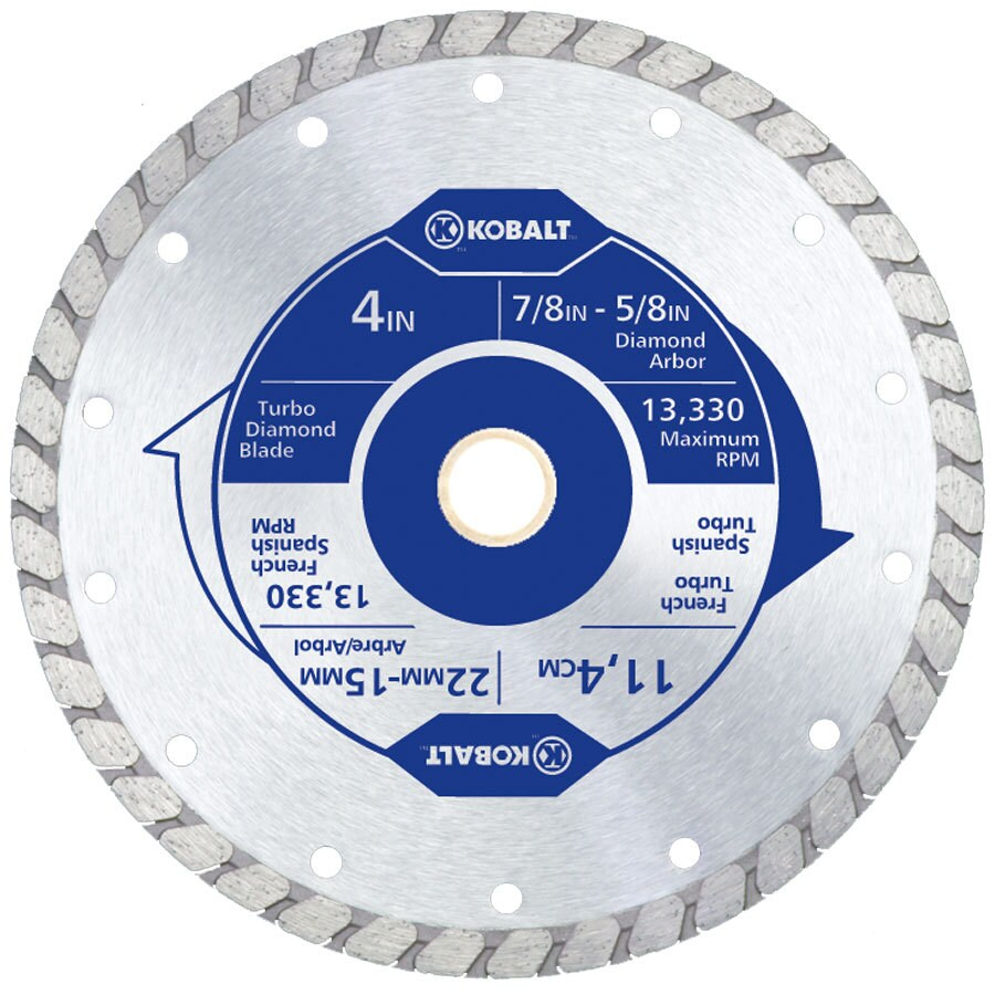 Kobalt 4-in 1-Tooth Wet Or Dry Cut Continuous Diamond Circular Saw Blade