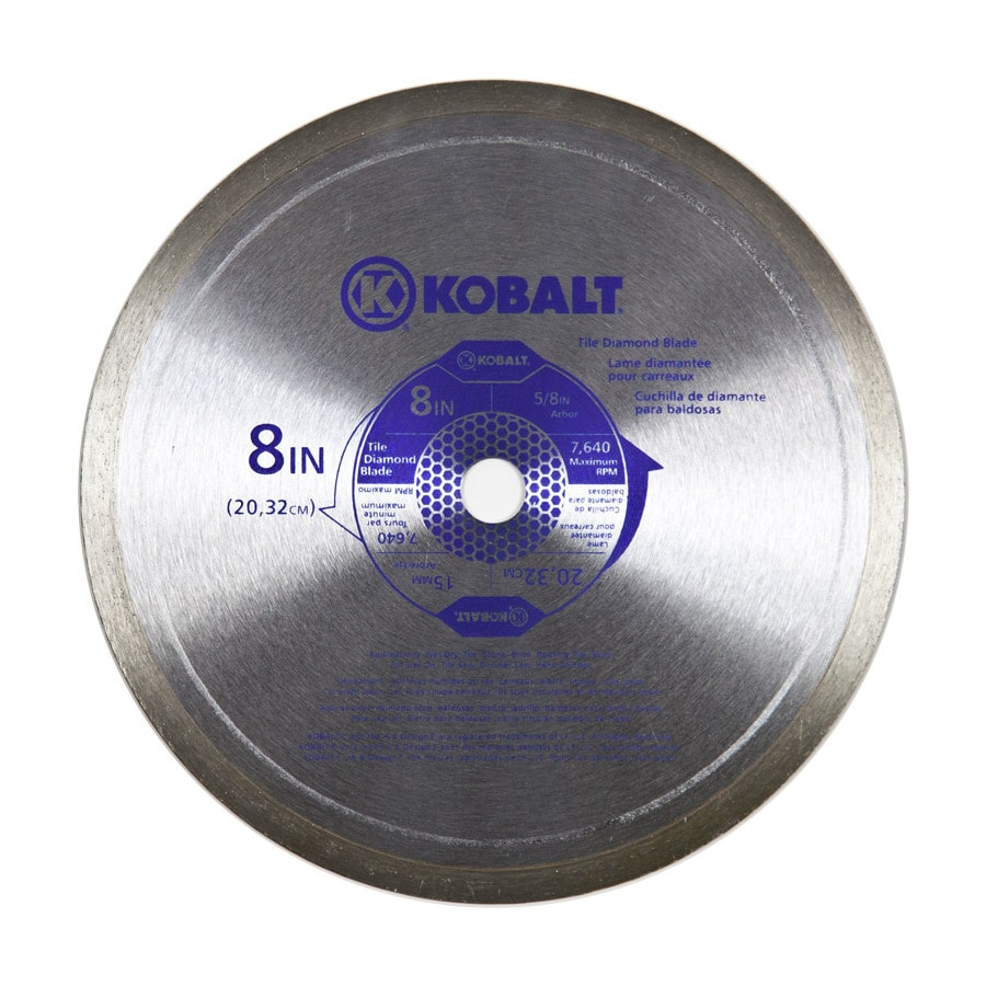 Kobalt 8-in 1-Tooth Wet or Dry Continuous Diamond-Tipped Steel Circular Saw Blade