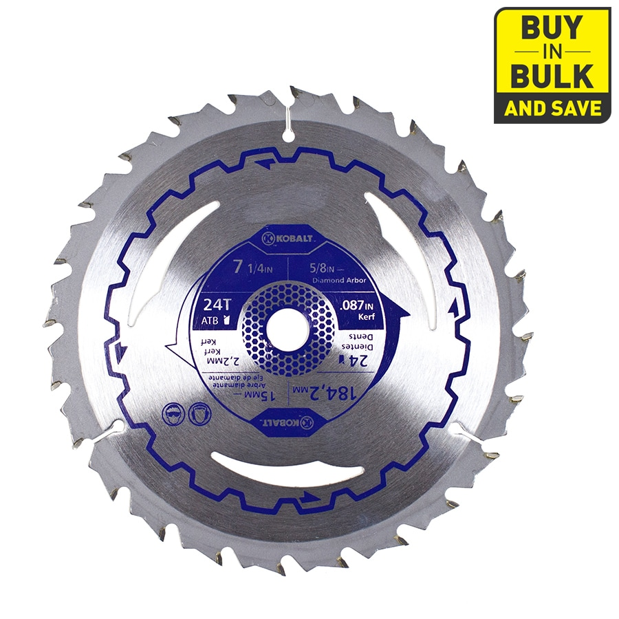 Kobalt 7-1/4-in 24-Tooth Dry Segmented Carbide Circular Saw Blade