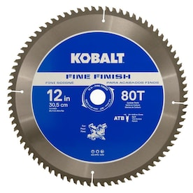 Kobalt 12-in 80-Tooth Segmented Carbide Circular Saw Blade For Use on Composite Decking