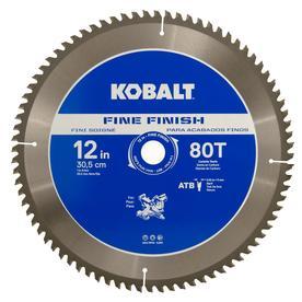 Kobalt 12-in 80-Tooth Segmented Carbide Circular Saw Blade