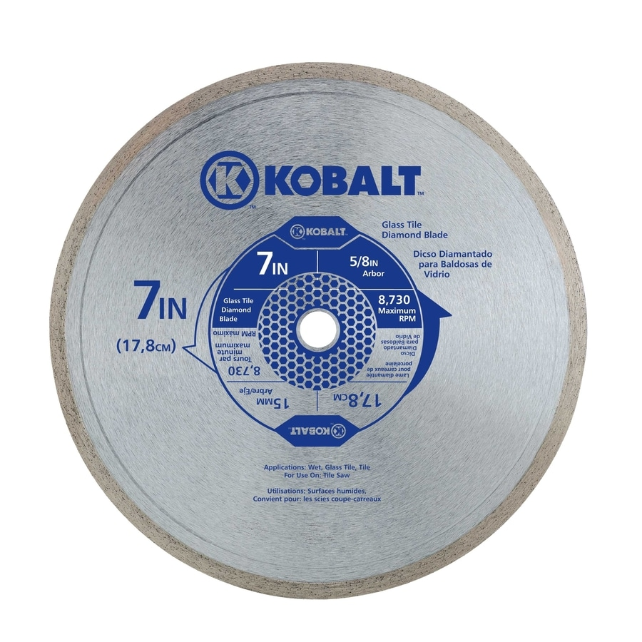 Kobalt 7 In 1 Tooth Wet Cut Continuous Diamond Circular Saw Blade