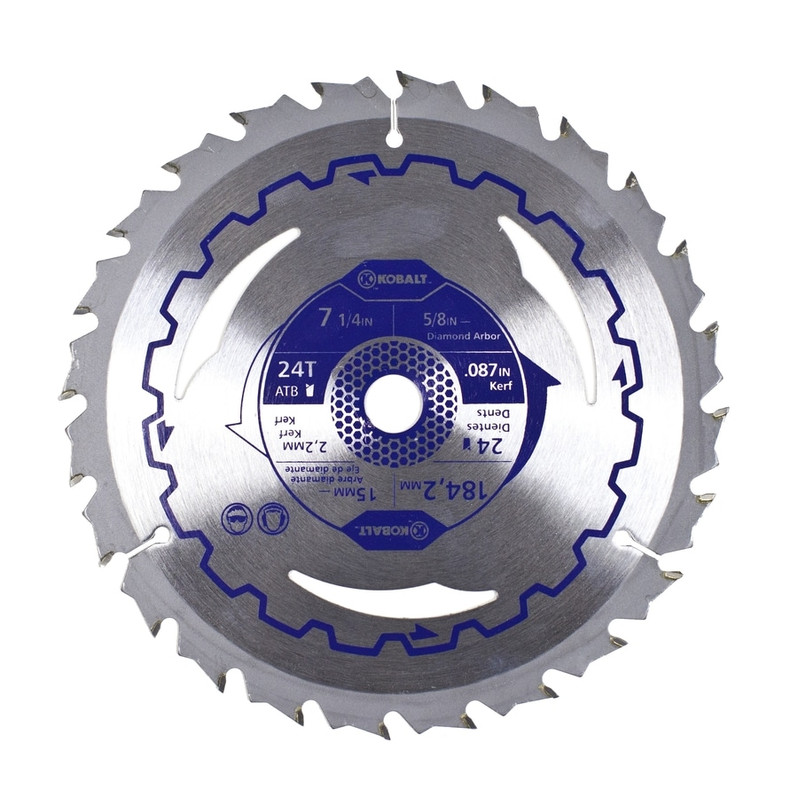 Kobalt 5-Pack 7-1/4-in 24-Tooth Continuous Carbide Circular Saw Blades