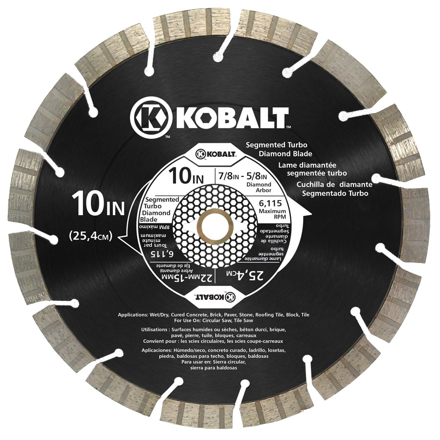 Shop kobalt 10 in wet or dry segmented circular saw blade at lowes kobalt 10 in wet or dry segmented circular saw blade greentooth
