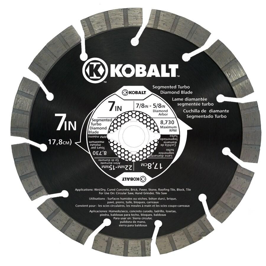 Kobalt 7-in Wet or Dry Segmented Circular Saw Blade