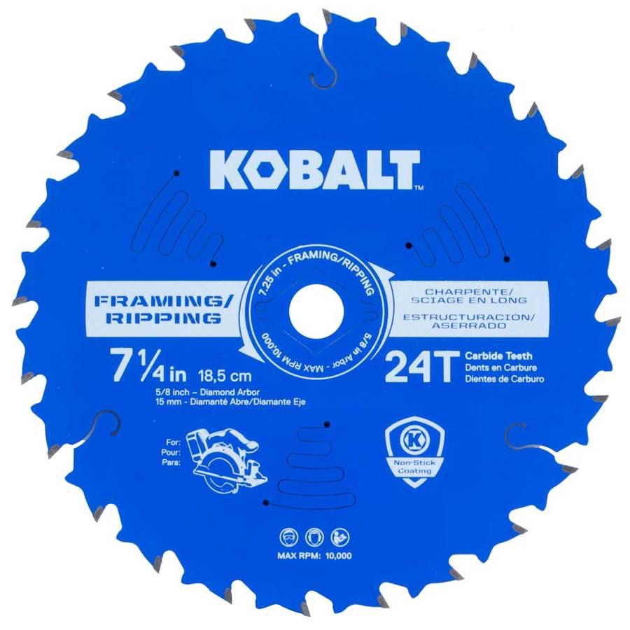 Kobalt 7-1/4-in 24-Tooth Standard Tooth Carbide Circular Saw Blade