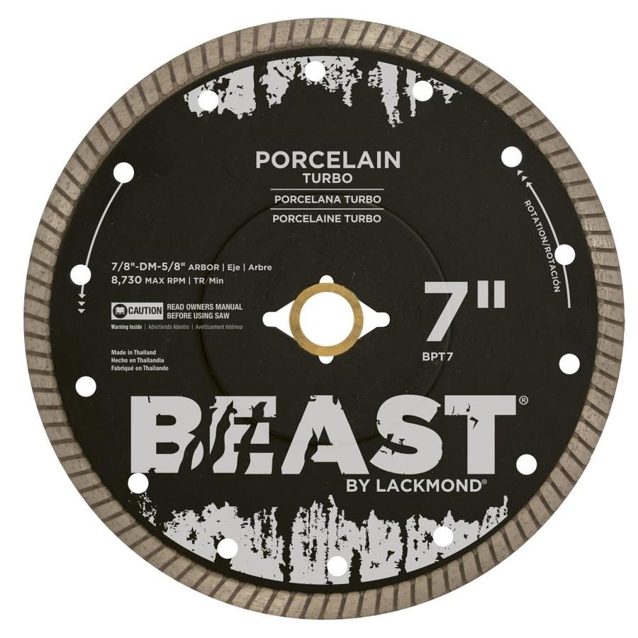 Beast Beast Bpt 7 In Wet Dry Turbo Diamond Saw Blade At