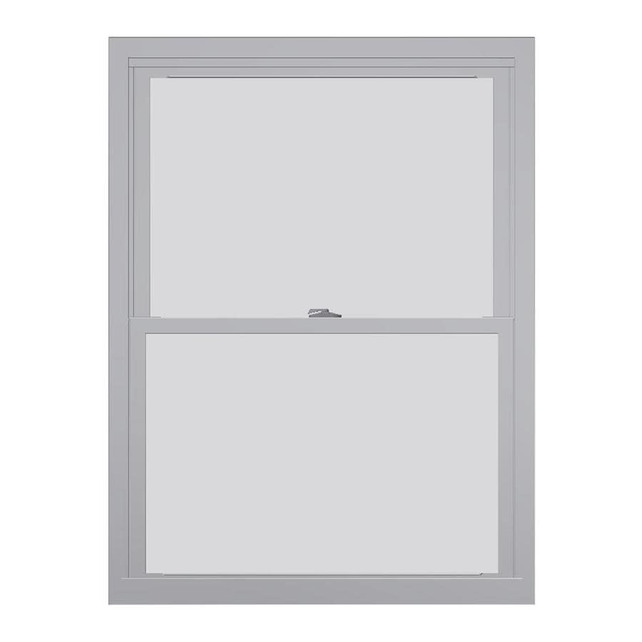 United Window & Door 4800 Vinyl Double Pane Single Strength Replacement Double Hung Window (Rough Opening: 28-in x 38-in; Actual: 27.75-in x 37.5-in)