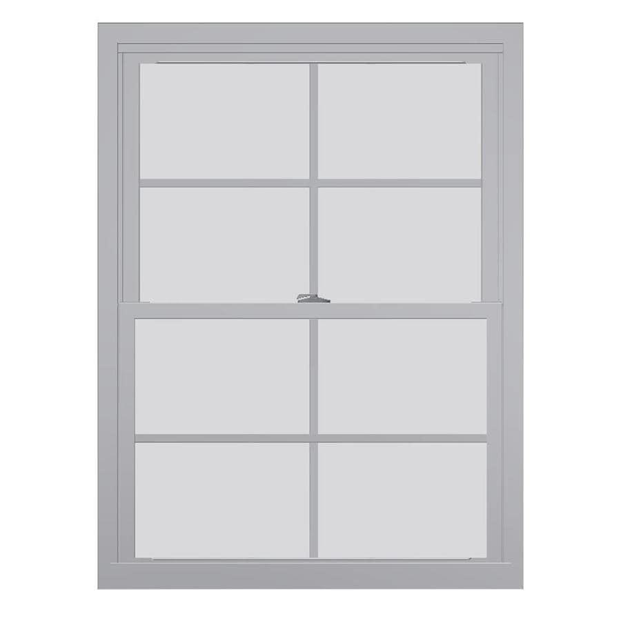 United Window & Door 4800 Series Vinyl Double Pane Single Strength Replacement Double Hung Window (Rough Opening: 28-in x 46-in Actual: 27.75-in x 45.5-in)