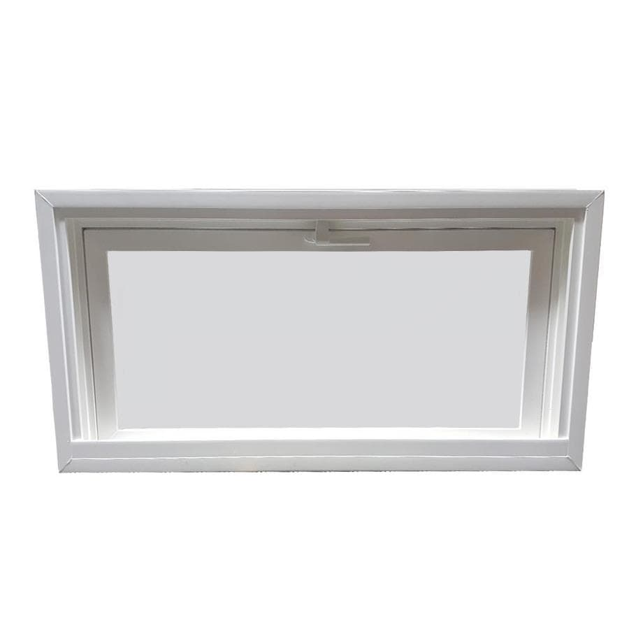 United Window & Door 4800 Series Tilting Vinyl Double Pane Single Strength Replacement Basement Hopper Window (Rough Opening: 32-in x 12-in Actual: 31.75-in x 11.75-in)