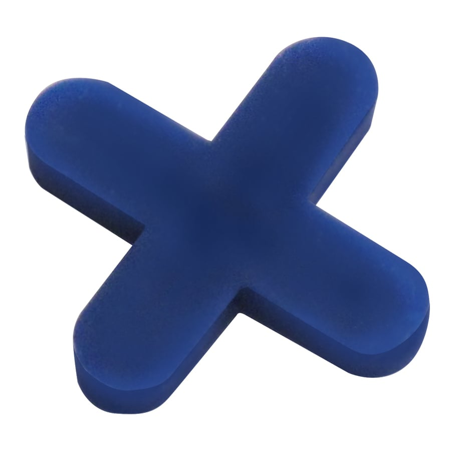 TAVY 500-Pack 1-in W x 1-in L 3/16-in Blue Plastic Tile Spacers