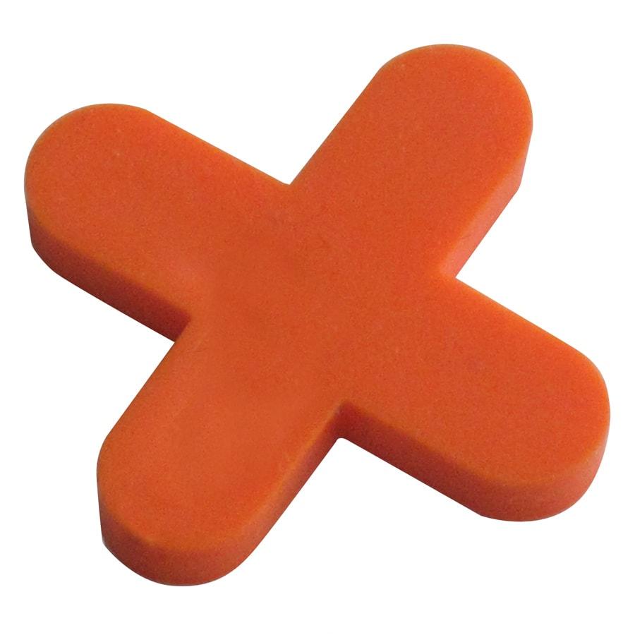 TAVY 500-Pack 1-in W x 1-in L 1/4-in Orange Plastic Tile Spacers