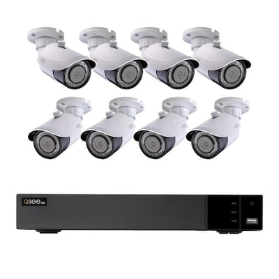Q-See QT 4K Digital Wired Outdoor 8-Pack Security Camera Kit