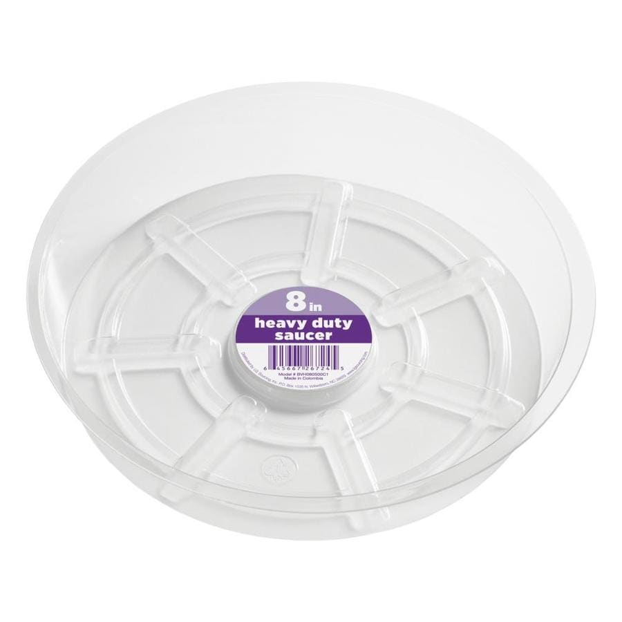 dotchi 8-in Clear Plastic Plant Saucer