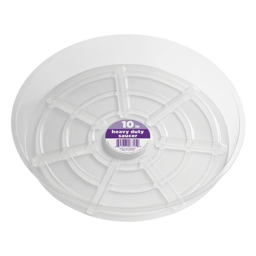 dotchi 10-in Clear Plastic Plant Saucer