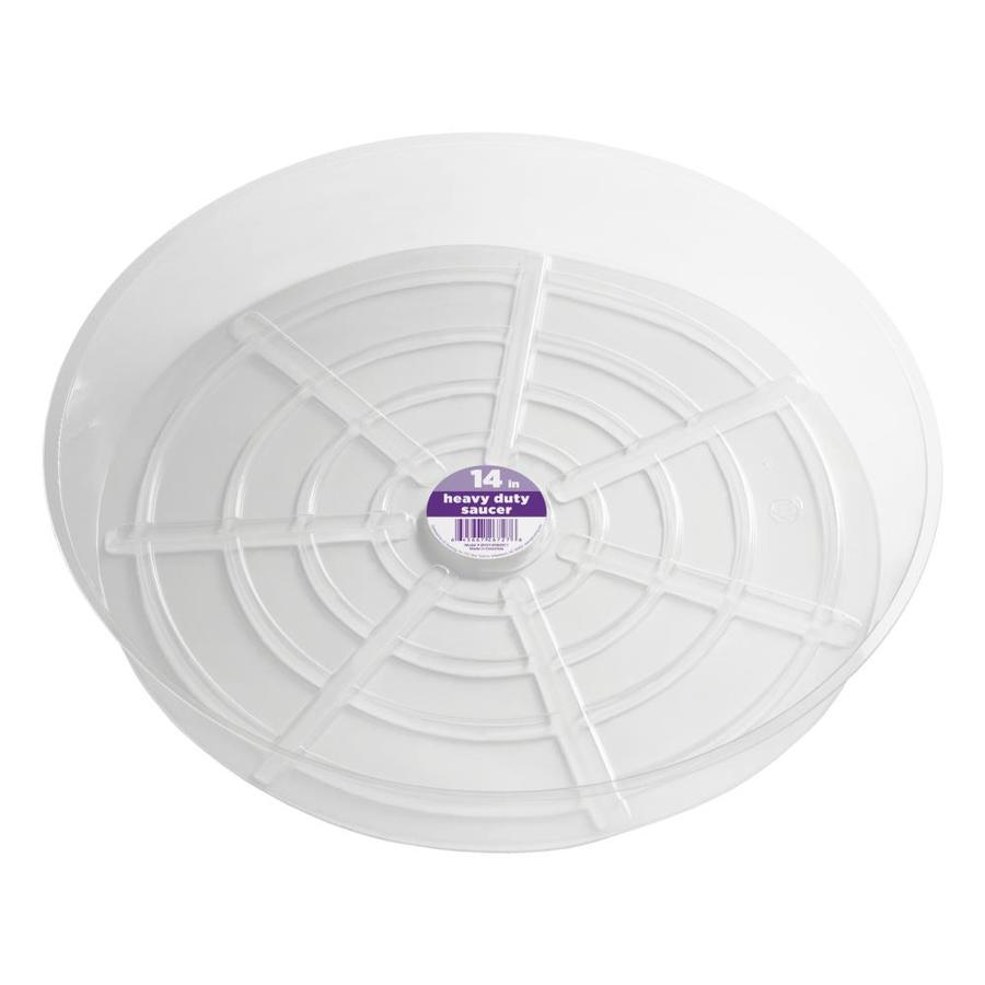 dotchi 14-in Clear Plastic Plant Saucer