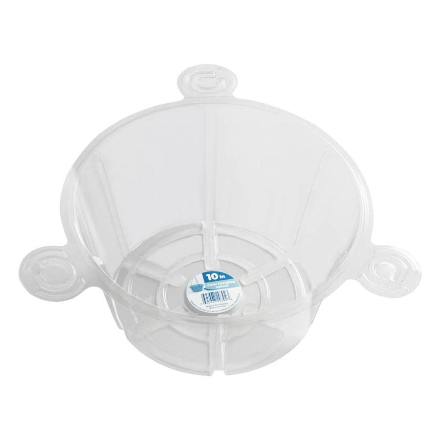 dotchi 25-Pack 10-in Clear Plastic Plant Saucer