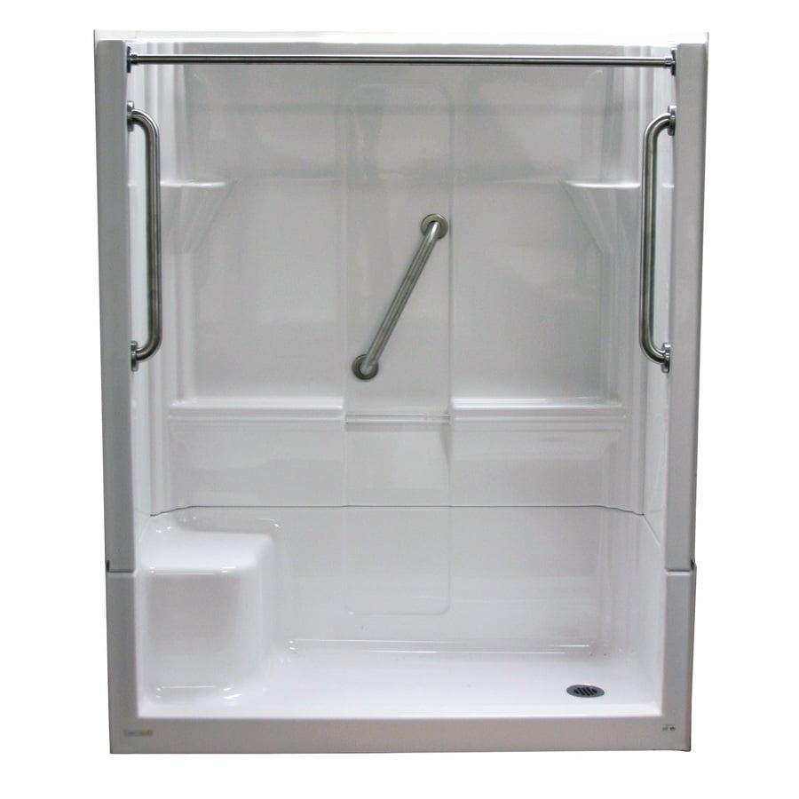 Laurel Mountain Almedia Low Threshold White 4 Piece Alcove Shower