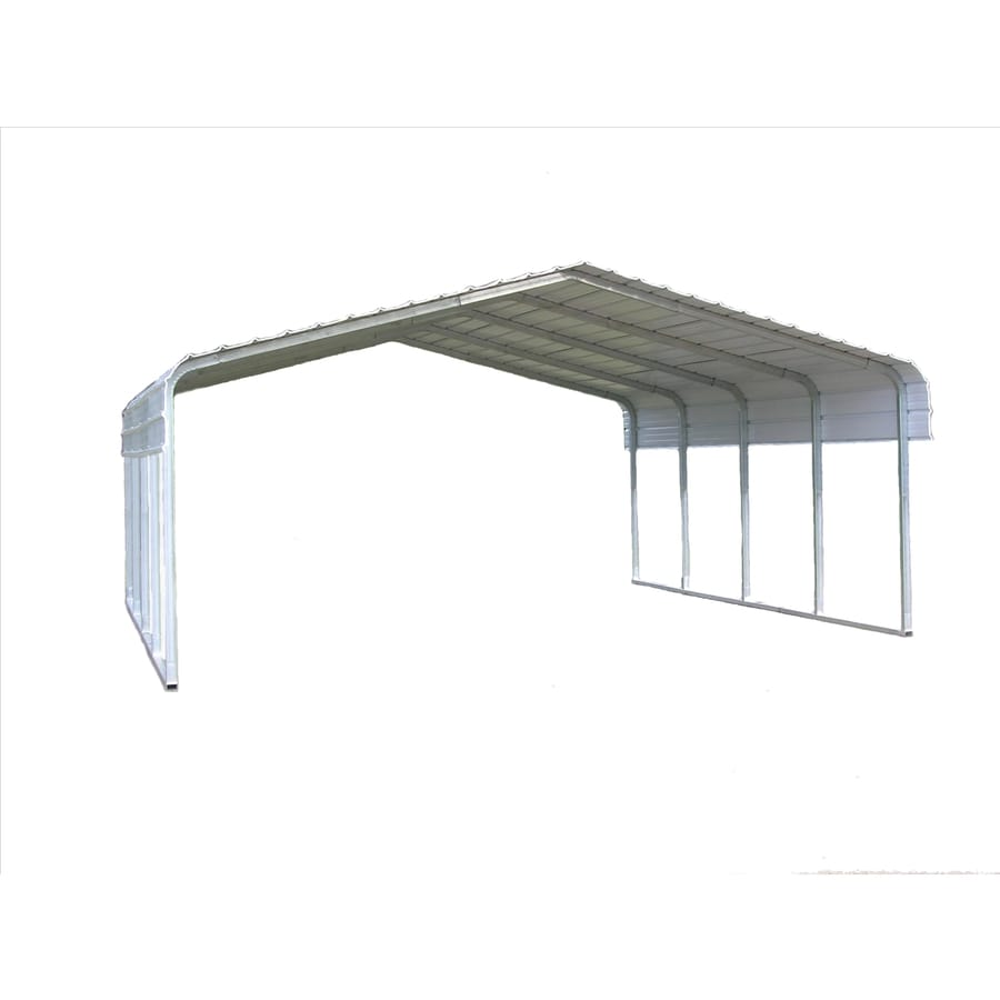 Shop VersaTube 18-ft x 20-ft x 10-ft White Metal 2-car Carport at ...