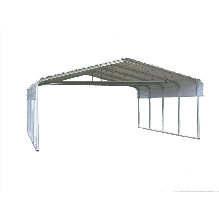 VersaTube 20-ft x 29-ft x 10-ft White Metal 2-car Carport