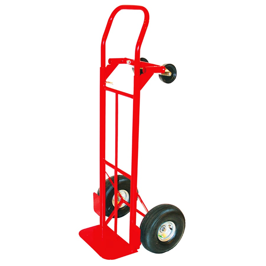 milwaukee 800lb capacity red steel convertible hand truck