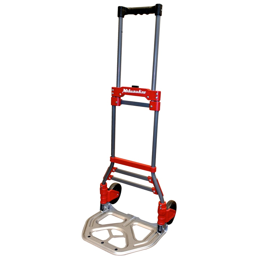 Milwaukee 150-lb Capacity Red Steel Folding Hand Truck