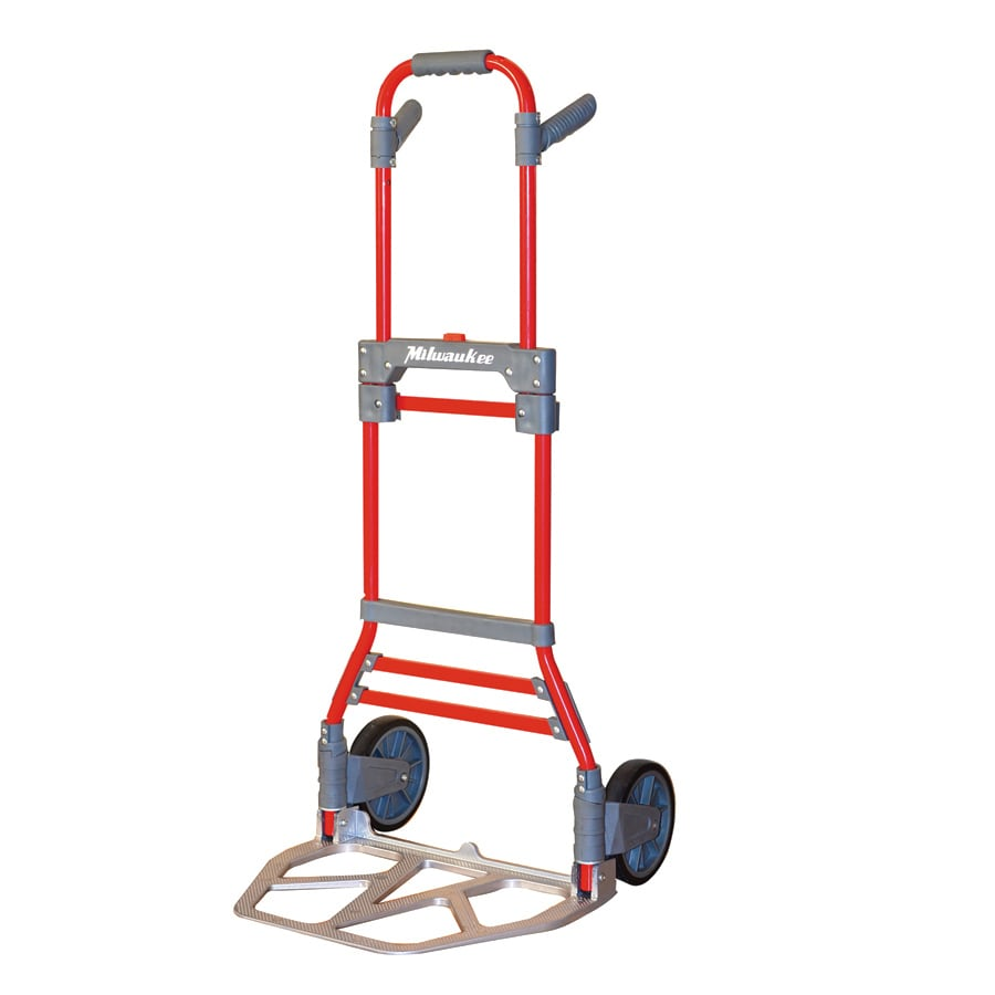 Milwaukee 300-lb Capacity Red Aluminum Folding Hand Truck