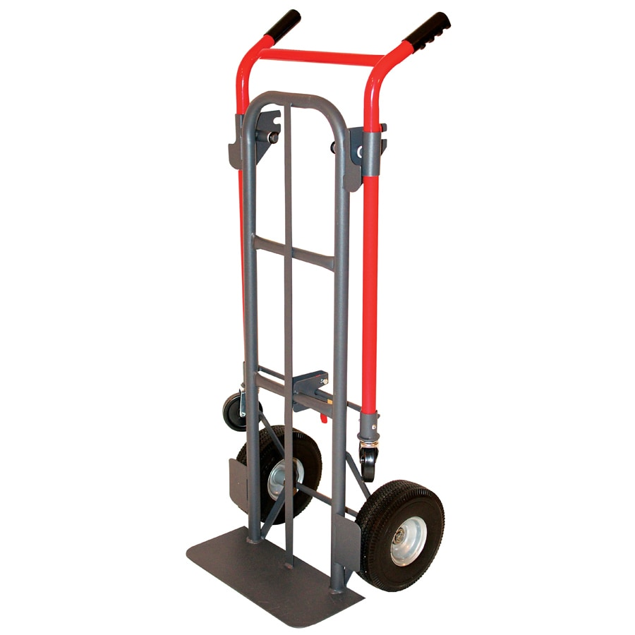 Milwaukee 800-lb Capacity Red Steel Convertible Hand Truck