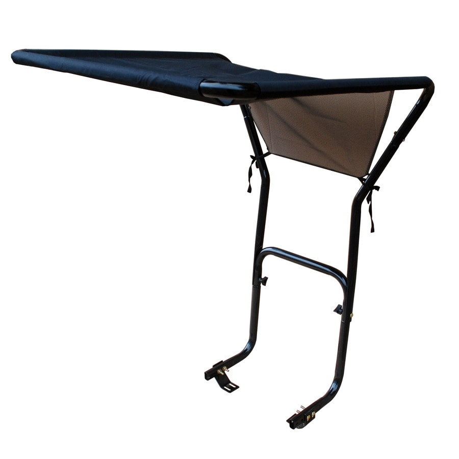 Blue Hawk Black Metal/Tarpaulin Riding Lawn Mower Canopy  sc 1 st  Loweu0027s & Shop Blue Hawk Black Metal/Tarpaulin Riding Lawn Mower Canopy at ...